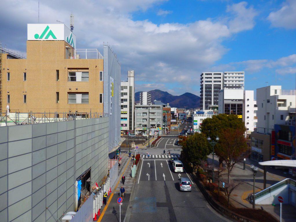 秦野駅から見たシビックマート予定地