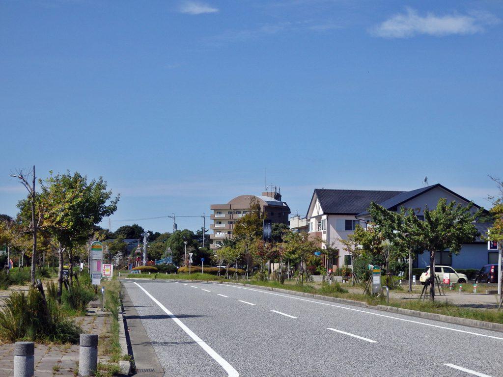 浜松市郊外の大平台の様子(鳴海)