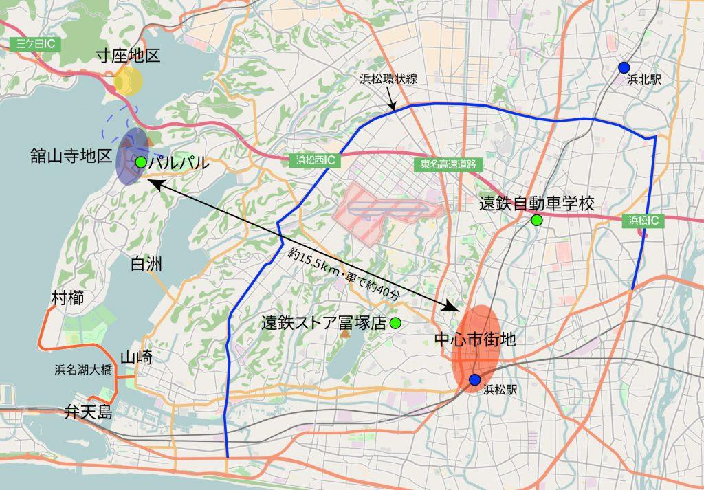 遠鉄関連事業位置関係図