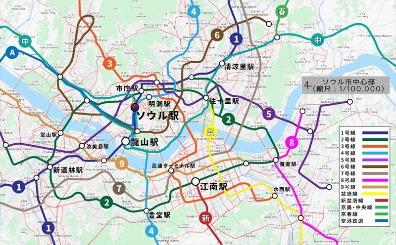 ソウル鉄道路線図