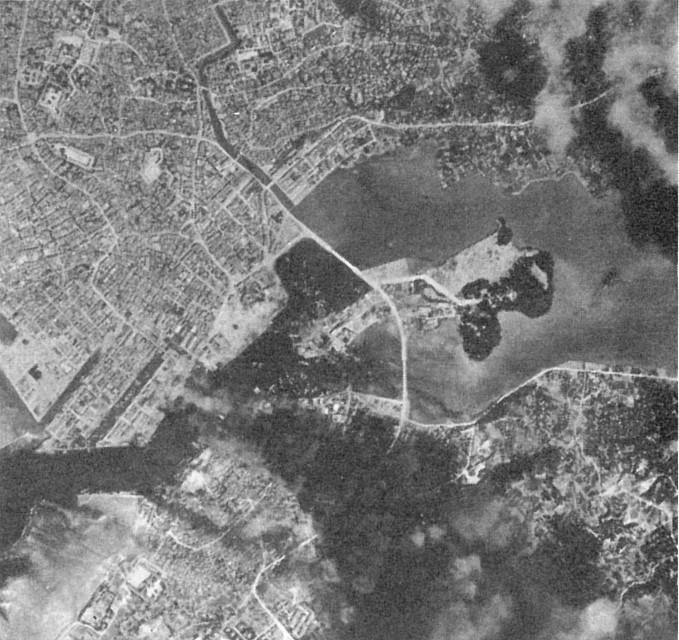 十・十空襲後の那覇市街