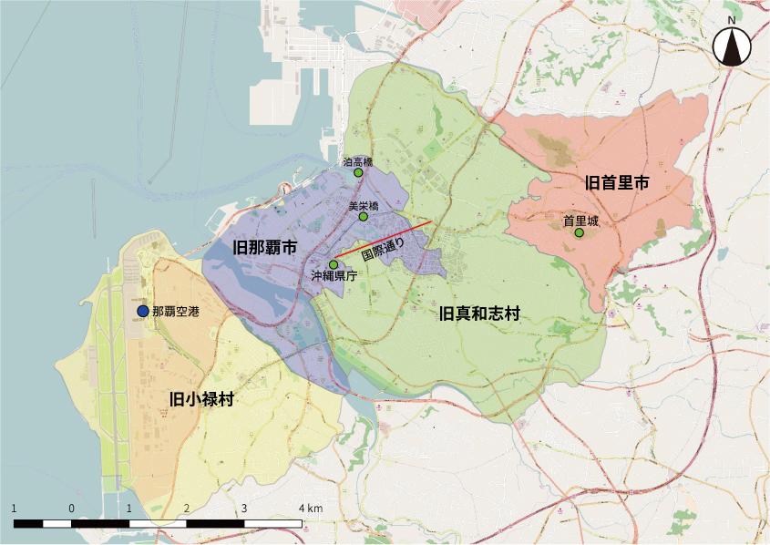 旧那覇市周辺地図
