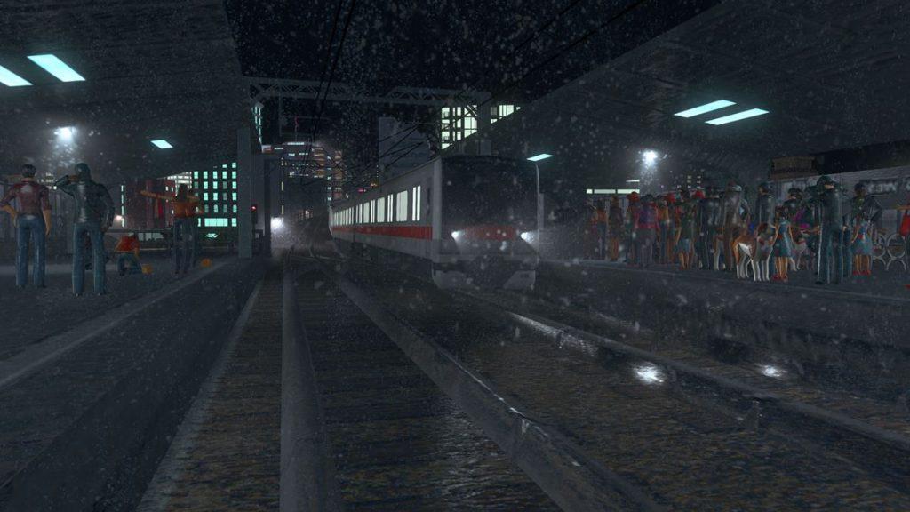 わくせん氏の作った駅。画像のキャプチャの仕方ではこんな1カットも見ることができます(「cities:skylines」より ©Colossal Order/Paradox Interactive )