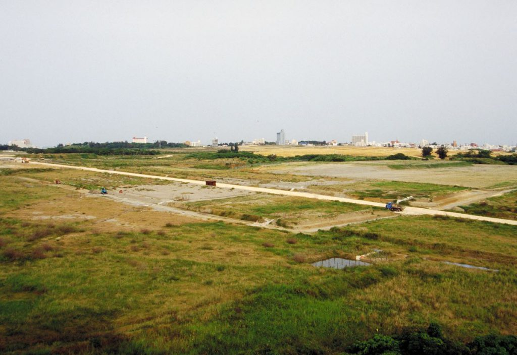 1995年の那覇新都心の様子