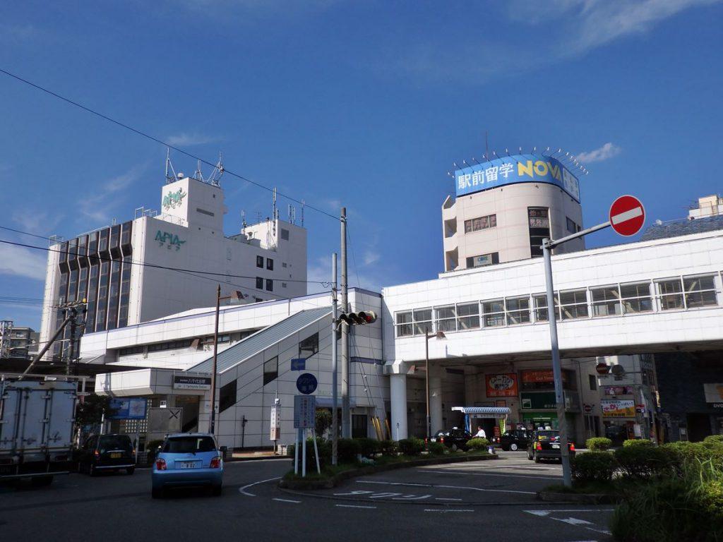 現在の八千代台駅の様子です。写真左側の建物は旧八千代デパート(現:アピア)です