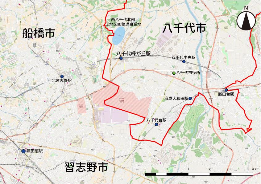 八千代市地図