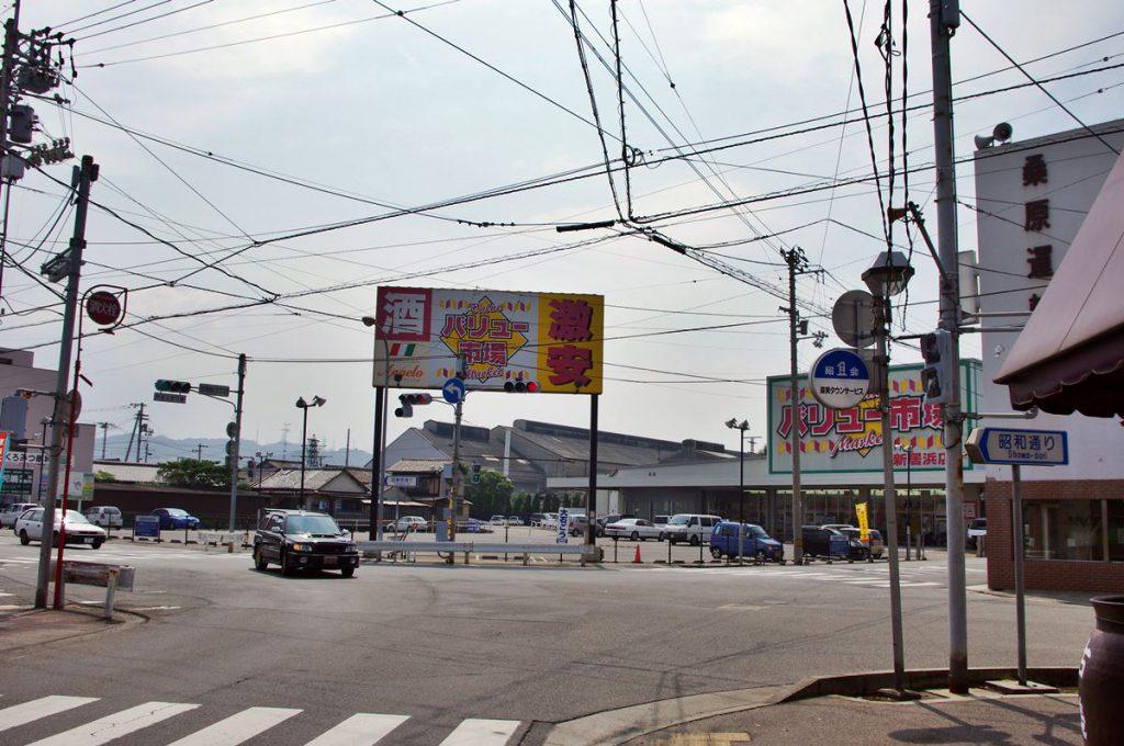 新居浜大丸跡を昭和通り側から。現在は食品スーパーとなっています