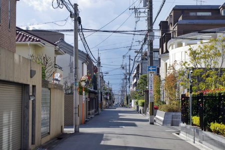 帝塚山中2丁目の高級住宅街