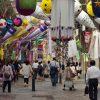 仙台市中心部の商業エリアは2核構造。2つの核とアーケード通りを見る
