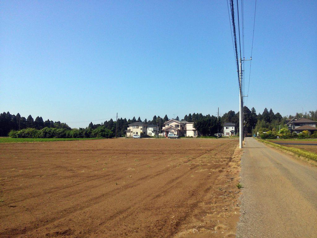 畑の奥に造成されたミニ分譲地。八街市沖にて(撮影:吉川祐介・2018年)
